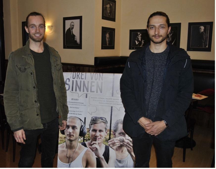 Drei von Sinnen - Gäste: Bart Bouman, David Stumpp (Protagonisten und Produzenten).