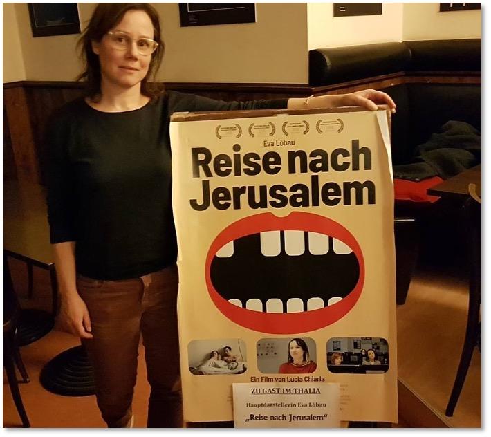 Zu Gast ist Hauptdarstellerin Eva Löbau. Reise nach Jerusalem