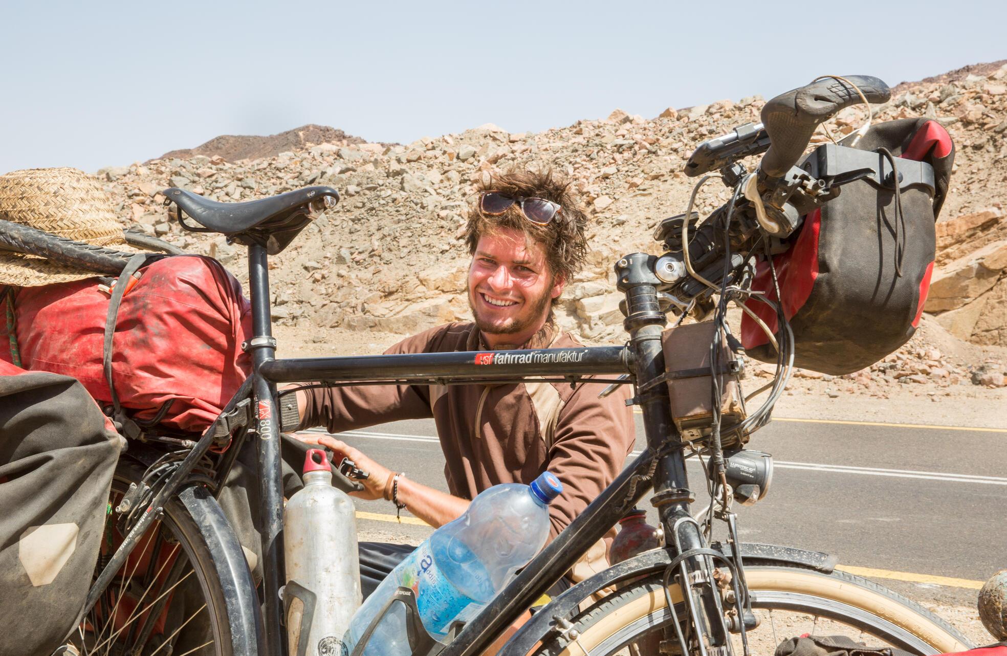 Reiseradler Anselm  Nathanael Pahnke zu Gast