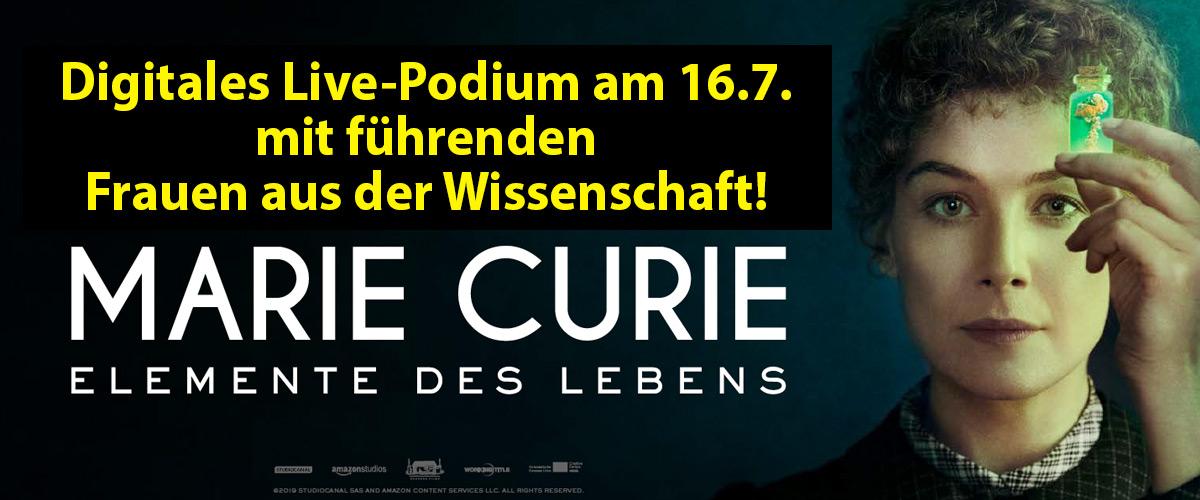Foto 1 Digitales Live-Panel zum Kinostart von MARIE CURIE – ELEMENTE DES LEBENS!