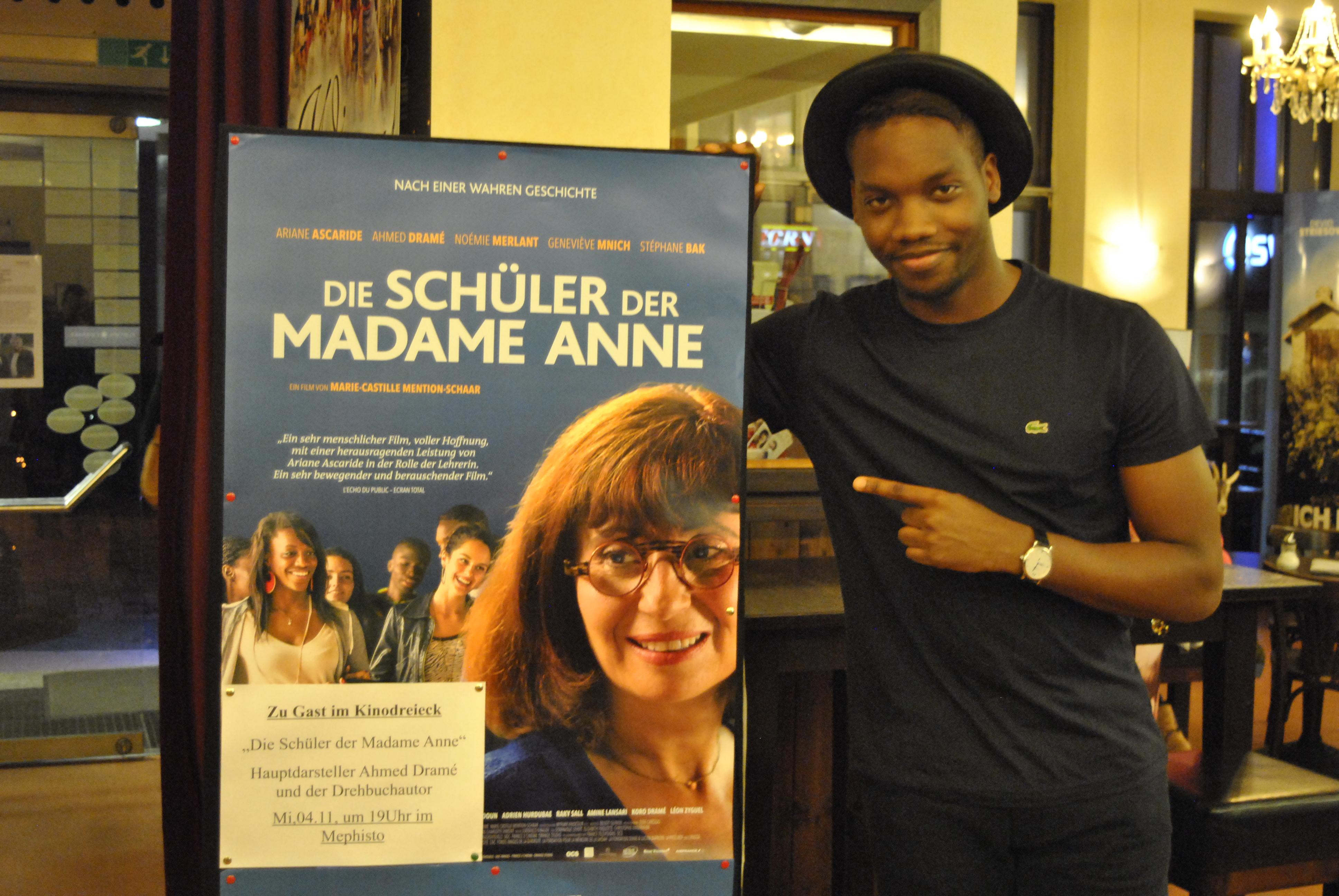 Gast: Hauptdarsteller und Drehbuchautor Ahmed Dramé